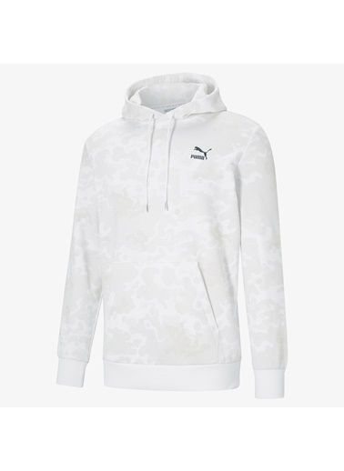 Puma Erkek Beyaz Classics Graphics Sweatshirt 530207.002 Beyaz